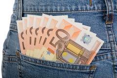 50 billetes de banco euro Imagen de archivo