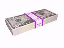 50 billets d'un dollar Photos libres de droits
