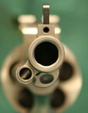 50 Cal. Frontal View of 50 cal handgun close up Royalty Free Stock Images