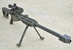 .50 Caliber Sniper Rifle. An M107 .50 Caliber Sniper Rifle royalty free stock photography