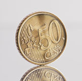 50 centesimi Fotografie Stock