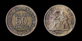 50 centimes Stock Images