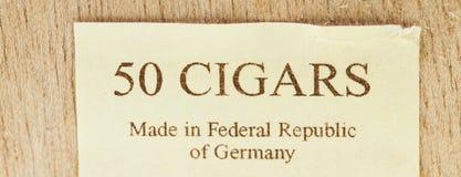 50 cigarrer Arkivbild