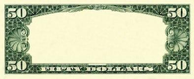 50 dólares de frame Fotografia de Stock