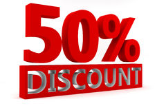 50% Discount Royalty Free Stock Image