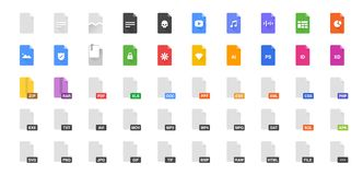 Free 50 Document Formats Vector Illustration Icon Set. Included The Icons As File, Types, Kind Of Files And More. Royalty Free Stock Photography - 131356727