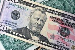 50 dollars US Photos libres de droits