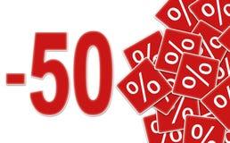 50 dyskontowa etykietka ilustracji