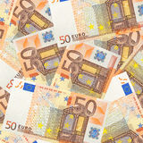 50 Euro. Fifty euro banknotes mixed jumbled Royalty Free Stock Photos