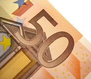 50 euro. A part of 50 euro money Stock Photography
