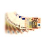 50 Euro. A fan of 50 Euro bank Stock Photos