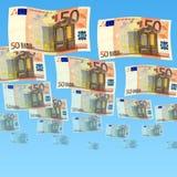 50 Euro. A fan of 50 Euro bank Royalty Free Stock Photos