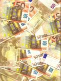 50 euro background Royalty Free Stock Image