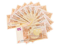 50 euro banconote. Immagini Stock