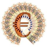 50 euro bank bills Royalty Free Stock Photos