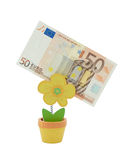 50 euro banknote in a holder Stock Images