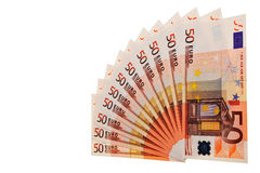 50 Euro banknotes. Royalty Free Stock Photos