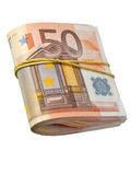 50-euro banknotes Royalty Free Stock Photos