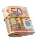 50-euro banknotes. Under rubber band Royalty Free Stock Photos