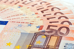 50 Euro banknotes Royalty Free Stock Photography