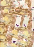 50 Euro bills stock images
