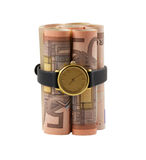 50-euro bills time bomb Royalty Free Stock Photos