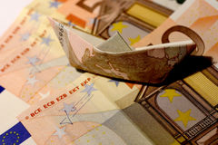 50 euro boat Royalty Free Stock Image