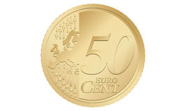 50 euro cent. A coin of 50 euro cent vector illustration