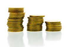 50 euro cent coins 2 stock photography