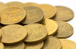 50 euro cent coins 8 Royalty Free Stock Photo