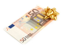 50 euro fatture Fotografie Stock Libere da Diritti