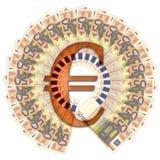 50 euro fatture di banca Fotografie Stock Libere da Diritti
