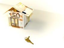 50 euro house. Close-up image of 50 euro stock image
