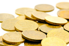 50 euro- moedas 11 do centavo Imagem de Stock Royalty Free