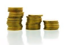 50 euro- moedas 2 do centavo Fotografia de Stock
