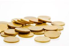 50 euro- moedas 6 do centavo Imagens de Stock Royalty Free