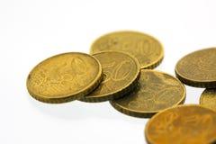 50 euro monete 4 del centesimo Fotografie Stock Libere da Diritti