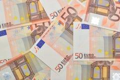 50 Euro money background. Royalty Free Stock Photos