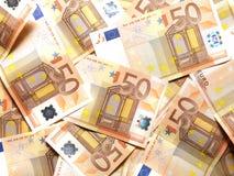 50 euro- notas Imagem de Stock Royalty Free