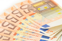 50 euro- notas de banco Imagem de Stock Royalty Free