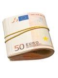 50 euro- notas de banco Fotografia de Stock Royalty Free