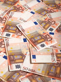 50 euro notes Images stock