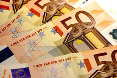 50 euro notes Stock Photos