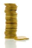 50 euro pièces de monnaie 1 de cent Photos libres de droits
