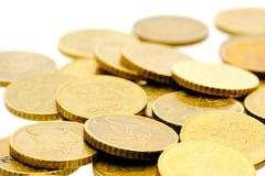 50 euro pièces de monnaie 11 de cent Image libre de droits