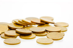 50 euro pièces de monnaie 6 de cent Images libres de droits