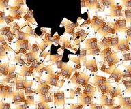 50 euro puzzle Royalty Free Stock Photo