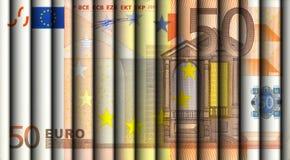 50 euro rachunków Obrazy Royalty Free
