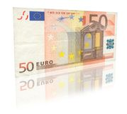 50 Euro with reflection Stock Images