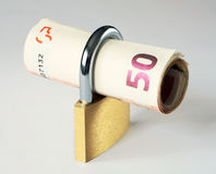 50 euro w zamknięciu Zdjęcie Royalty Free